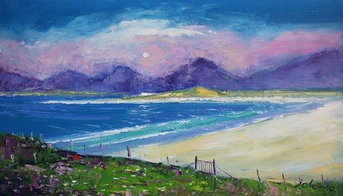 Gate To Luskentyre Beach Isle Of Harris by John Lowrie Morrison - Original Painting on Stretched Canvas